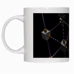 Grid Construction Structure Metal White Mugs by Nexatart