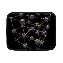Grid Construction Structure Metal Netbook Case (small)  by Nexatart
