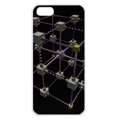 Grid Construction Structure Metal Apple Iphone 5 Seamless Case (white) by Nexatart
