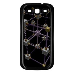 Grid Construction Structure Metal Samsung Galaxy S3 Back Case (black) by Nexatart