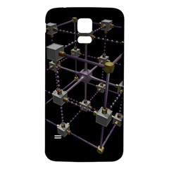 Grid Construction Structure Metal Samsung Galaxy S5 Back Case (white) by Nexatart