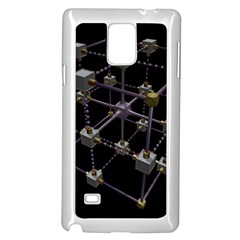 Grid Construction Structure Metal Samsung Galaxy Note 4 Case (white) by Nexatart
