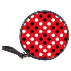 Red & Black Polka Dot Pattern Classic 20 Cd Wallets