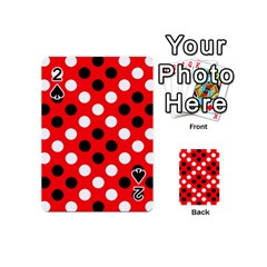 Red & Black Polka Dot Pattern Playing Cards 54 (mini)  by Nexatart