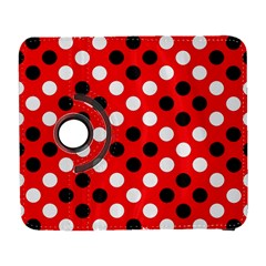 Red & Black Polka Dot Pattern Galaxy S3 (flip/folio) by Nexatart