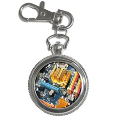 Technology Computer Chips Gigabyte Key Chain Watches by Nexatart