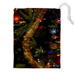 Night Xmas Decorations Lights  Drawstring Pouches (xxl)