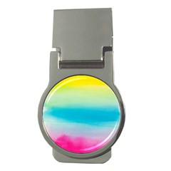 Watercolour Gradient Money Clips (round)