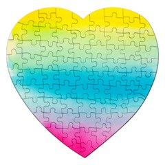 Watercolour Gradient Jigsaw Puzzle (heart)