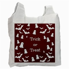 Halloween Free Card Trick Or Treat Recycle Bag (one Side) by Nexatart