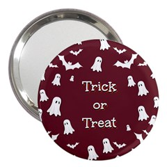 Halloween Free Card Trick Or Treat 3  Handbag Mirrors by Nexatart