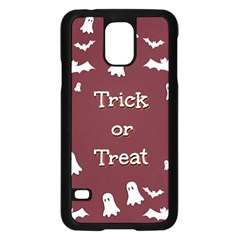 Halloween Free Card Trick Or Treat Samsung Galaxy S5 Case (black) by Nexatart