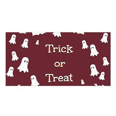 Halloween Free Card Trick Or Treat Satin Shawl by Nexatart