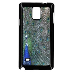 Peacock Four Spot Feather Bird Samsung Galaxy Note 4 Case (black)