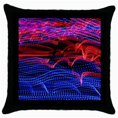 Lights Abstract Curves Long Exposure Throw Pillow Case (black) by Nexatart