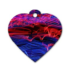 Lights Abstract Curves Long Exposure Dog Tag Heart (one Side) by Nexatart