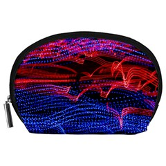 Lights Abstract Curves Long Exposure Accessory Pouches (large)  by Nexatart