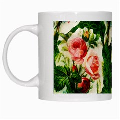 Floral Collage White Mugs