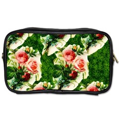 Floral Collage Toiletries Bags 2 Side by Nexatart
