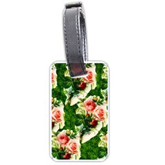 Floral Collage Luggage Tags (one Side)