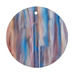 Vertical Abstract Contemporary Round Ornament (two Sides)