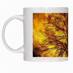 Moon Tree Kahl Silhouette White Mugs