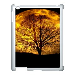 Moon Tree Kahl Silhouette Apple Ipad 3/4 Case (white) by Nexatart