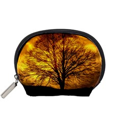 Moon Tree Kahl Silhouette Accessory Pouches (small)  by Nexatart