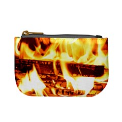 Fire Flame Wood Fire Brand Mini Coin Purses