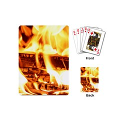 Fire Flame Wood Fire Brand Playing Cards (mini)  by Nexatart