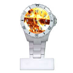 Fire Flame Wood Fire Brand Plastic Nurses Watch by Nexatart