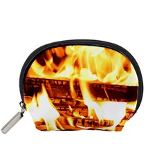 Fire Flame Wood Fire Brand Accessory Pouches (small)