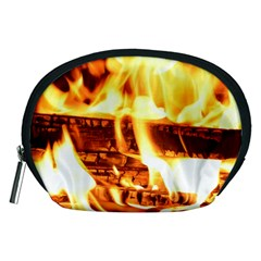 Fire Flame Wood Fire Brand Accessory Pouches (medium)  by Nexatart