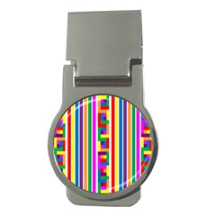 Rainbow Geometric Design Spectrum Money Clips (round)  by Nexatart