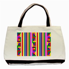 Rainbow Geometric Design Spectrum Basic Tote Bag (two Sides) by Nexatart