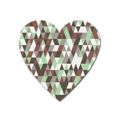 Pattern Triangles Random Seamless Heart Magnet