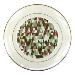 Pattern Triangles Random Seamless Porcelain Plates