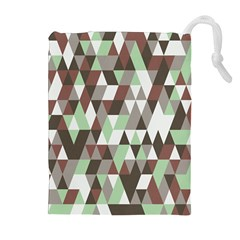 Pattern Triangles Random Seamless Drawstring Pouches (extra Large)