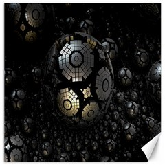 Fractal Sphere Steel 3d Structures Canvas 12  X 12   by Nexatart