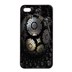 Fractal Sphere Steel 3d Structures Apple Iphone 4/4s Seamless Case (black) by Nexatart