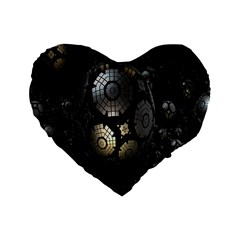 Fractal Sphere Steel 3d Structures Standard 16  Premium Flano Heart Shape Cushions by Nexatart