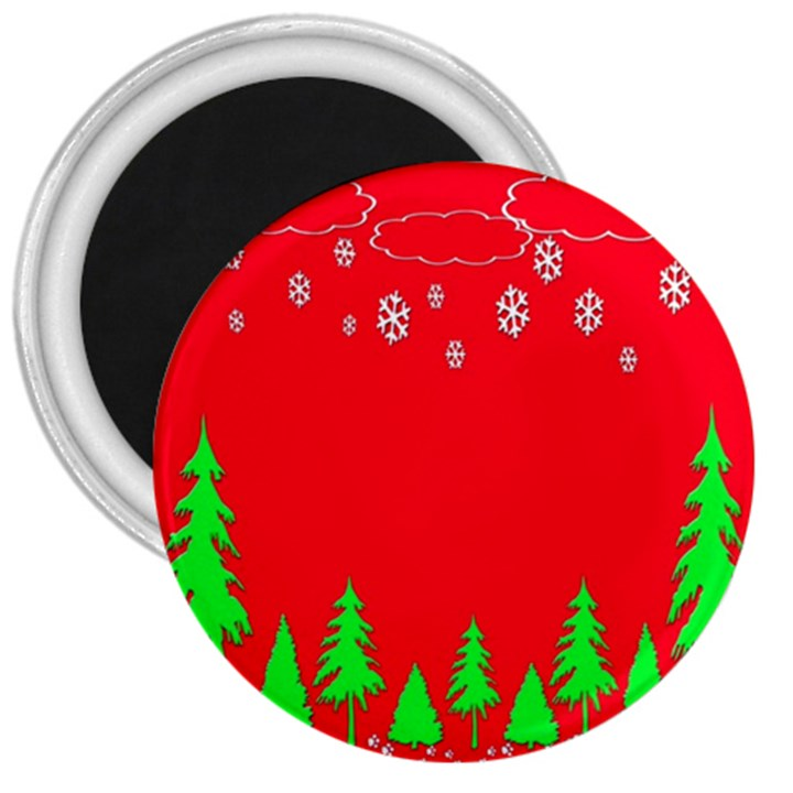 Merry Christmas 3  Magnets