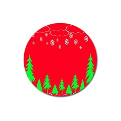 Merry Christmas Magnet 3  (round) by Nexatart