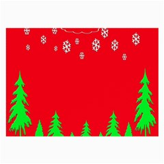 Merry Christmas Large Glasses Cloth (2 Side) by Nexatart