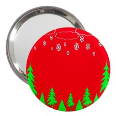 Merry Christmas 3  Handbag Mirrors by Nexatart