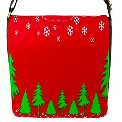 Merry Christmas Flap Messenger Bag (s) by Nexatart