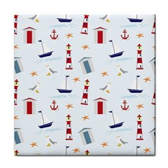 Seaside Beach Summer Wallpaper Tile Coasters by Nexatart