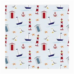 Seaside Beach Summer Wallpaper Medium Glasses Cloth