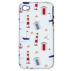 Seaside Beach Summer Wallpaper Apple Iphone 4/4s Hardshell Case (pc+silicone)