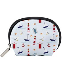 Seaside Beach Summer Wallpaper Accessory Pouches (small)